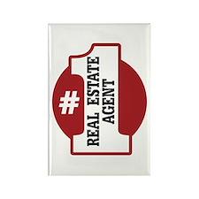 #1 Real Estate Agent Rectangle Magnet