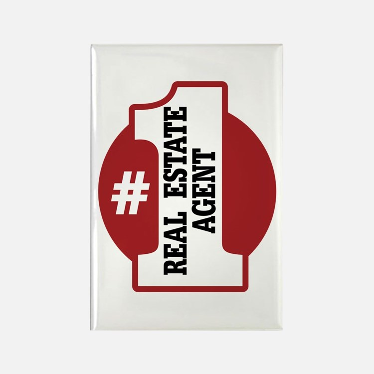 #1 Real Estate Agent Rectangle Magnet