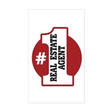 #1 Real Estate Agent Decal
