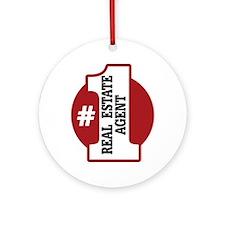 #1 Real Estate Agent Ornament (Round)