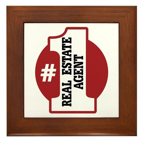 #1 Real Estate Agent Framed Tile
