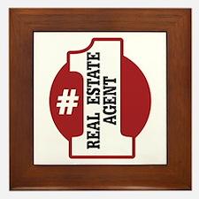 #1 Real Estate Agent Framed Tile