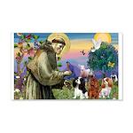 St Francis/Cavalier Trio 22x14 Wall Peel