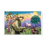 St Francis Doxie 22x14 Wall Peel