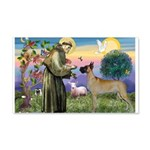 Saint Francis' Great Dane 22x14 Wall Peel
