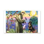 St Francis / Rottweiler 22x14 Wall Peel