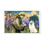 St Francis & Samoyed 22x14 Wall Peel