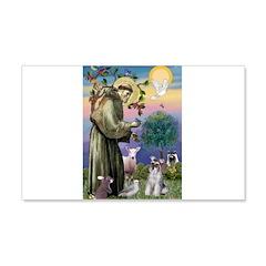 St Francis & Schnauzer (#5) 22x14 Wall Peel