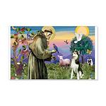 St Francis & Husky 22x14 Wall Peel