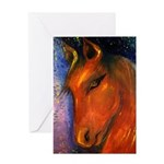 Evening Mare Greeting Card