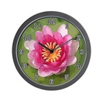 NATURE SERIES:  Lotus Flower Wall Clock