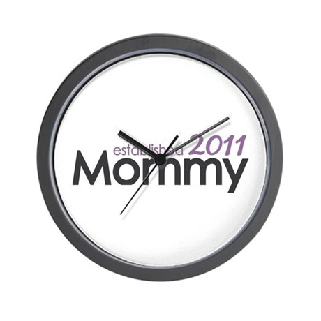 Mommy Est 2011 Wall Clock