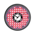 "OP ART SERIES:  ""It's Not Time"" Wall Clock"