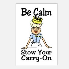 Be Calm Carry On Postcards (Package of 8)