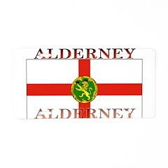 Alderney Flag Aluminum License Plate