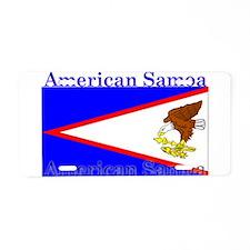 American Samoa Flag Aluminum License Plate