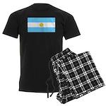 Argentina Blank Flag Men's Dark Pajamas