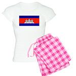 Cambodia Blank Flag Women's Light Pajamas