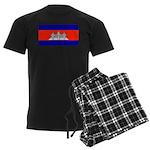 Cambodia Blank Flag Men's Dark Pajamas