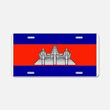 Cambodia Blank Flag Aluminum License Plate