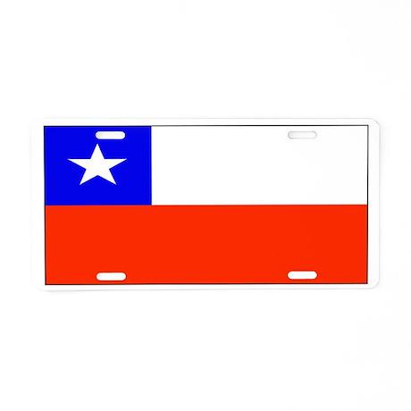 Chile Blank Flag Aluminum License Plate