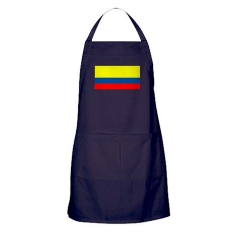 Colombia Colombian Blank Flag Apron (dark)