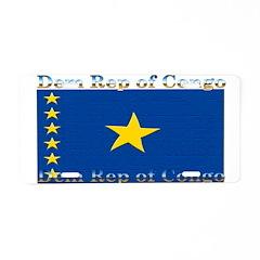 Dem Rep of Congo Aluminum License Plate