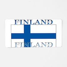 Finland Finish Flag Aluminum License Plate