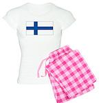 Finland Finish Blank Flag Women's Light Pajamas