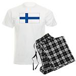Finland Finish Blank Flag Men's Light Pajamas