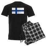 Finland Finish Blank Flag Men's Dark Pajamas
