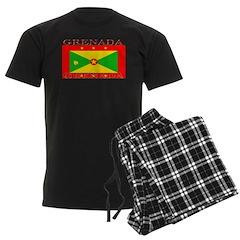 Grenada Grenadian Flag Men's Dark Pajamas
