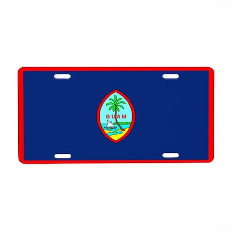Guam Guaminian Blank Flag Aluminum License Plate