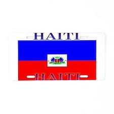 Haiti Haitian Flag Aluminum License Plate