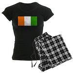 Ivory Coast Blank Flag Women's Dark Pajamas