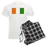 Ivory Coast Blank Flag Men's Light Pajamas
