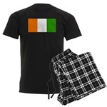 Ivory Coast Blank Flag Men's Dark Pajamas