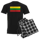 Lithuania Lithuanian Flag Men's Dark Pajamas