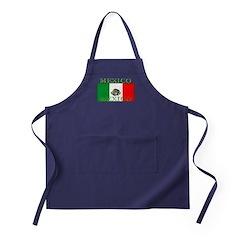 Mexico Mexican Flag Apron (dark)