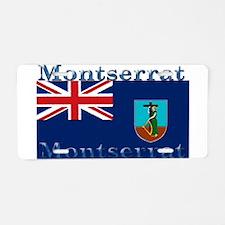 Montserrat Aluminum License Plate