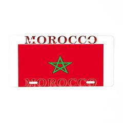 Morocco Moroccan Flag Aluminum License Plate