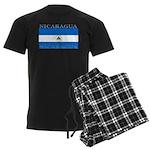 Nicaragua Nicaraguan Flag Men's Dark Pajamas