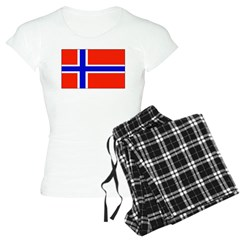Norway Norwegian Blank Flag Pajamas