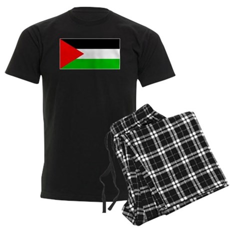Palestinian Blank Flag Men's Dark Pajamas
