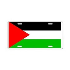 Palestinian Blank Flag Aluminum License Plate