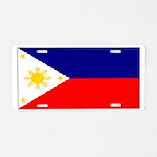 Filipino Pilipinas Blank Flag Aluminum License Pla