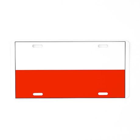 Poland Polish Blank Flag Aluminum License Plate