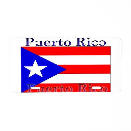 Puerto Rico Rican Flag Aluminum License Plate
