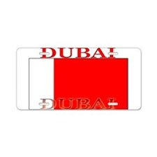 Dubai Flag Aluminum License Plate