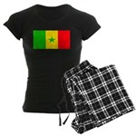Senegal Blank Flag Women's Dark Pajamas